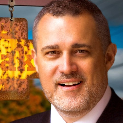 Jeffrey Hayzlett and an old kodak sign